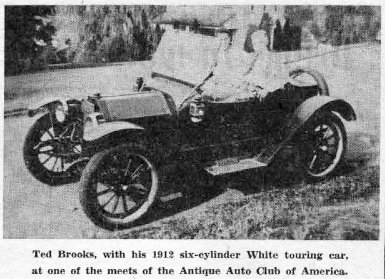 Antique Auto Club of America: Ted Brooks\' 1912 touring cars, Dr ...