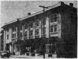 The Opera House as it appeared after it was rebuilt in 1915, and as it remained until its recent renovations by its new owners, Main Line Investments, Inc., in 1950-51.