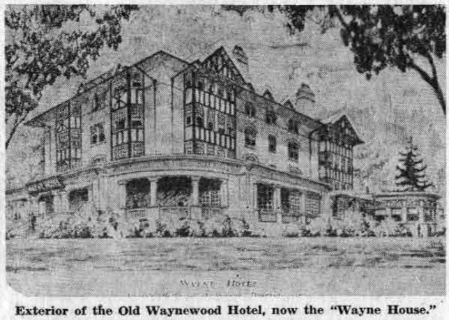 The Wayne House on Lancaster avenue, where Helen Kellogg now has her dining room, has always looked very much as it does today, although it was built in the early 1900's.