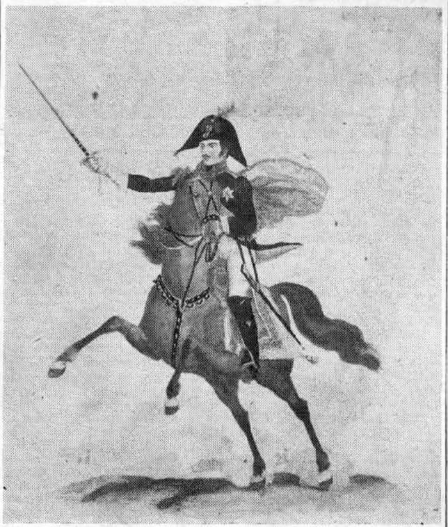 A photographic reproduction of the lithograph of the King of Prussia, for whom the famous old inn was named when it was built in the 1700's.