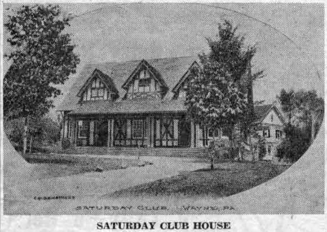 Although other pictures of the Saturday Club House have been shown in this column, this is undoubtedly one of the quaintest. In October, 1898, the Board of the club authorized the building of the club house, at a total cost for both lot and building of $5,145. It is the oldest woman's club house in Delaware county, and one of the oldest in the state.