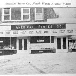 The American Stores Co. corner store, 131-133 North Wayne Avenue, in 1934. (Suburban & Wayne Times, April 13, 1934)