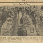 An interior view of the Wayne Acme during opening week, 1949. (Suburban & Wayne Times, November 11, 1949)