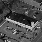 A portion of an aerial view of downtown Wayne gives a great view of the Acme store. (Radnor Historical Society)
