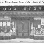 In 1936 this A&P food store opened next door to the American Stores Co. market at 125-139 North Wayne Avenue. (Suburban & Wayne Times, October 2, 1936)