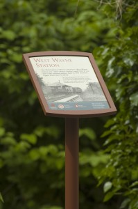 West Wayne Station sign