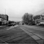 The 1939 Acme, at left, is seen in this view of Lancaster Avenue looking west. (Radnor Historical Society)