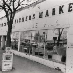 The Lancaster County Farmer's Market, which took over the Acme building and kept its white panelled facade. It's shown here in an undated photo, looking rather unkempt. (Suburban &Wayne Times archive, Radnor Historical Society)