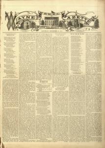 Newspaper - Weekly Wayne Gazette
